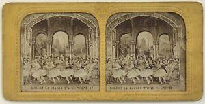 Robert Il Diable Scena VI Théâtre Danza Parigi Foto Stereo Vintage Diorama