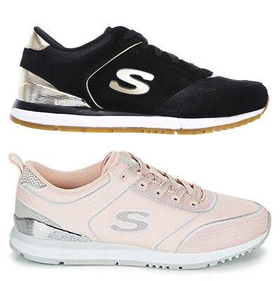 SKECHERS SUNLITE REVIVAL 910 BLK LTPK scarpe donna sportive sneakers casual   eBay