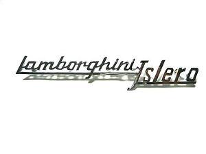 stemma scritta LAMBORGHINI ISLERO 175mm cromata sign badge emblem logo escudo