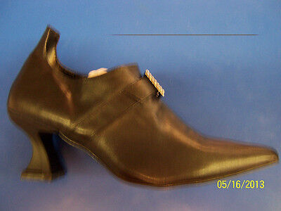 ELF Shoes Black Witch Rhinestone Buckle Wicked Halloween Adult Costume Accessory