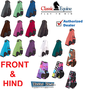 Classic-Equine-Legacy-FRONT-HIND-LEG-Boots-System-Plain-Sport-SMB-Horse-Tack