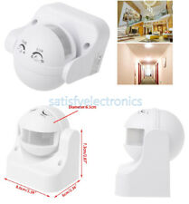 White Outdoor 180 Degree Security Pir Motion Movement Sensor Detector Switch