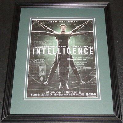 Intelligence 2013 Framed 11x14 ORIGINAL Vintage Advertisement Josh Holloway