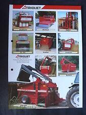 0160) TRIOLIET Holland - Produktübersicht Deutschland - Prospekt Brochure