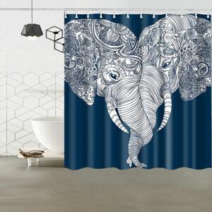 Details About Bohemian Elephant Shower Curtain Fabric Waterproof Bathroom Decor 12 Hooks 72 72