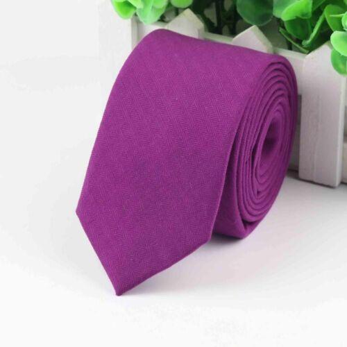 Men/'s Colorful Tie Cotton Formal Ties Necktie Narrow Slim Skinny Cravat Fashion