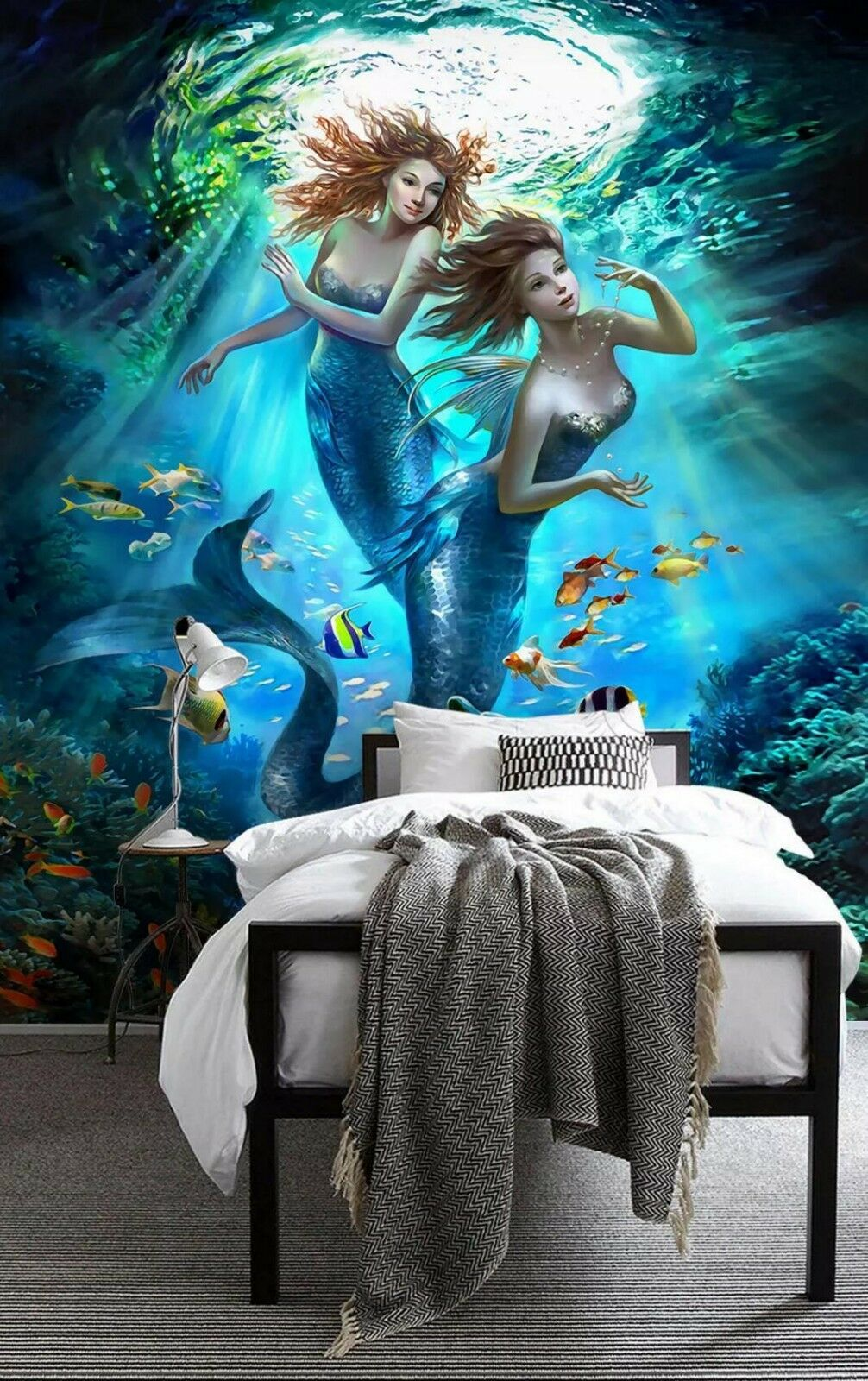 3D Mermaid Sea 822 Wall Paper Exclusive MXY Wallpaper Mural Decal Indoor Wall AJ