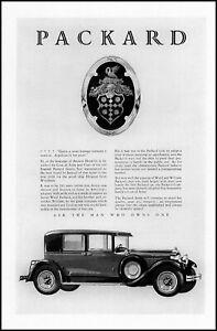 1928 Packard car automobile coat of arms crest vintage art print ad ads60