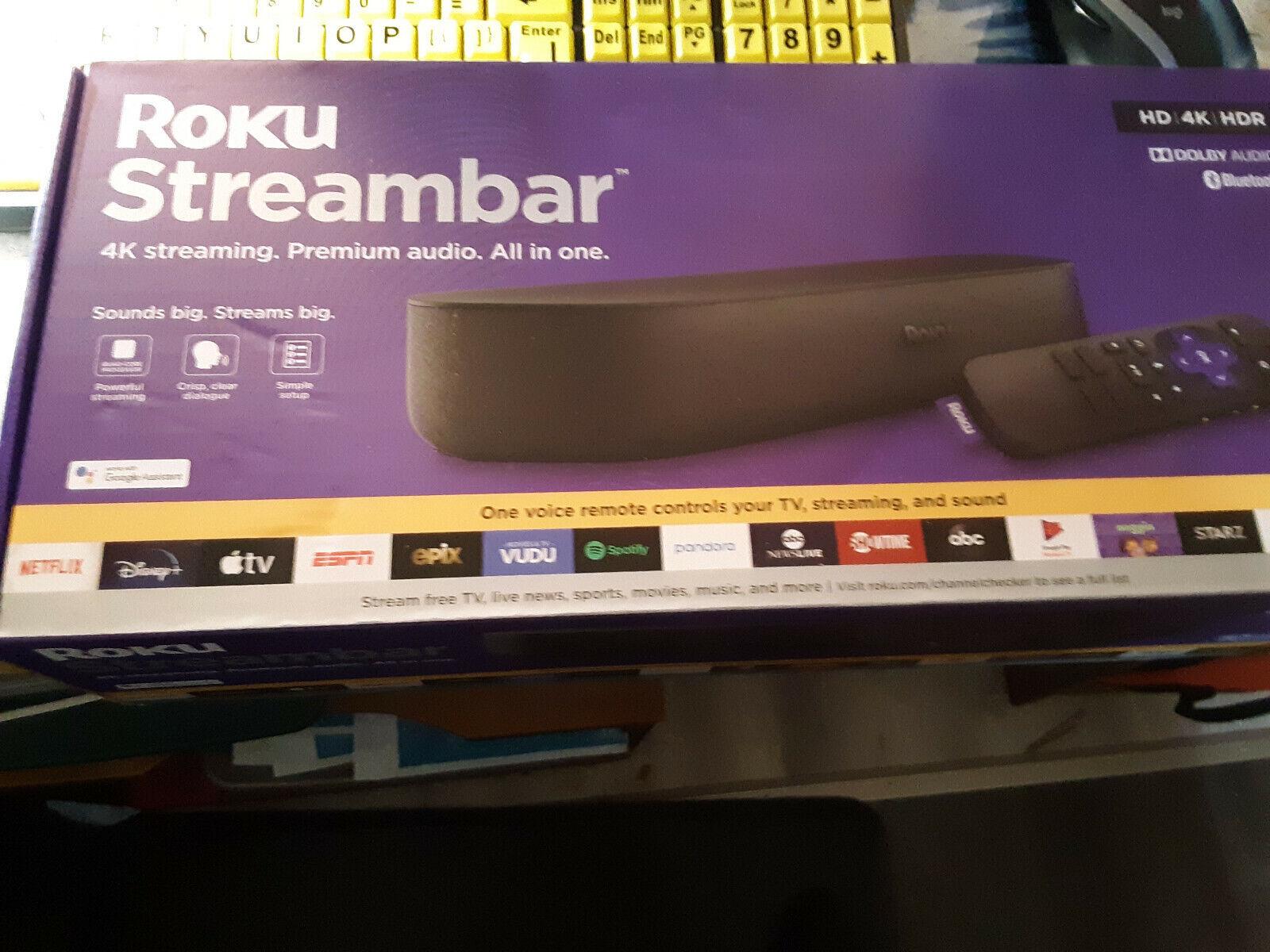 2020! Roku Streambar (9102RW) Powerful 4K Streaming Media Player NEW! FreeShip freeship media player powerful roku streambar streaming