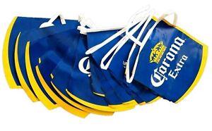 Corona-Extra-Bier-USA-Wimpel-Kette-Party-Girlande-Flaggen-blau-gelb