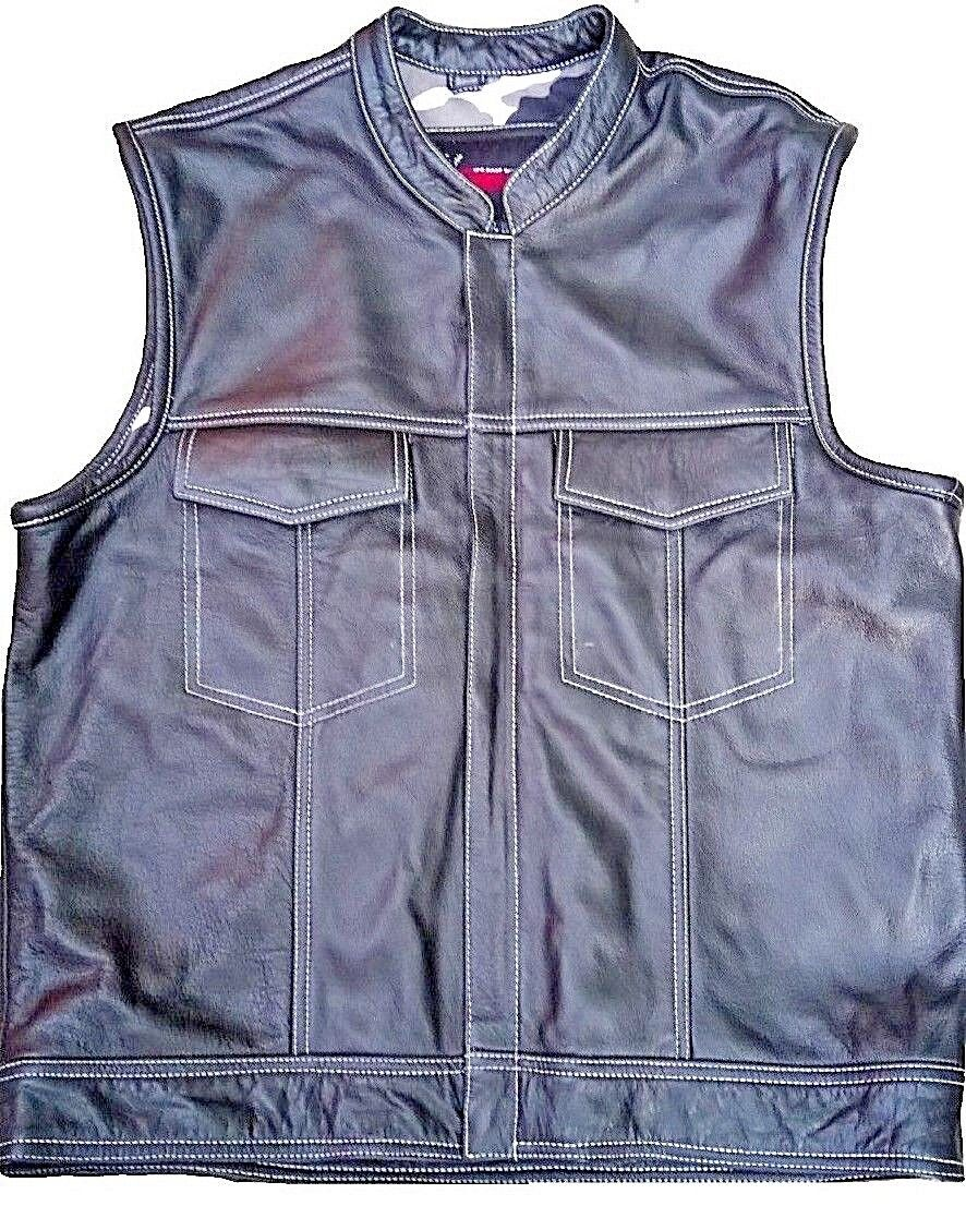 Sons Of Anarchy Motorcycle Vest Soft Rider American Biker Leather Vest