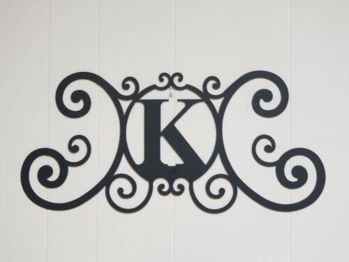 Iron Letter K Monogram Door Wall Decoration Plaque Metal Art Initial 2mm thick
