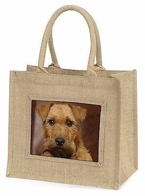 Lakeland Terrier Hund Große Natürliche Jute-einkaufstasche Weihnachten I,