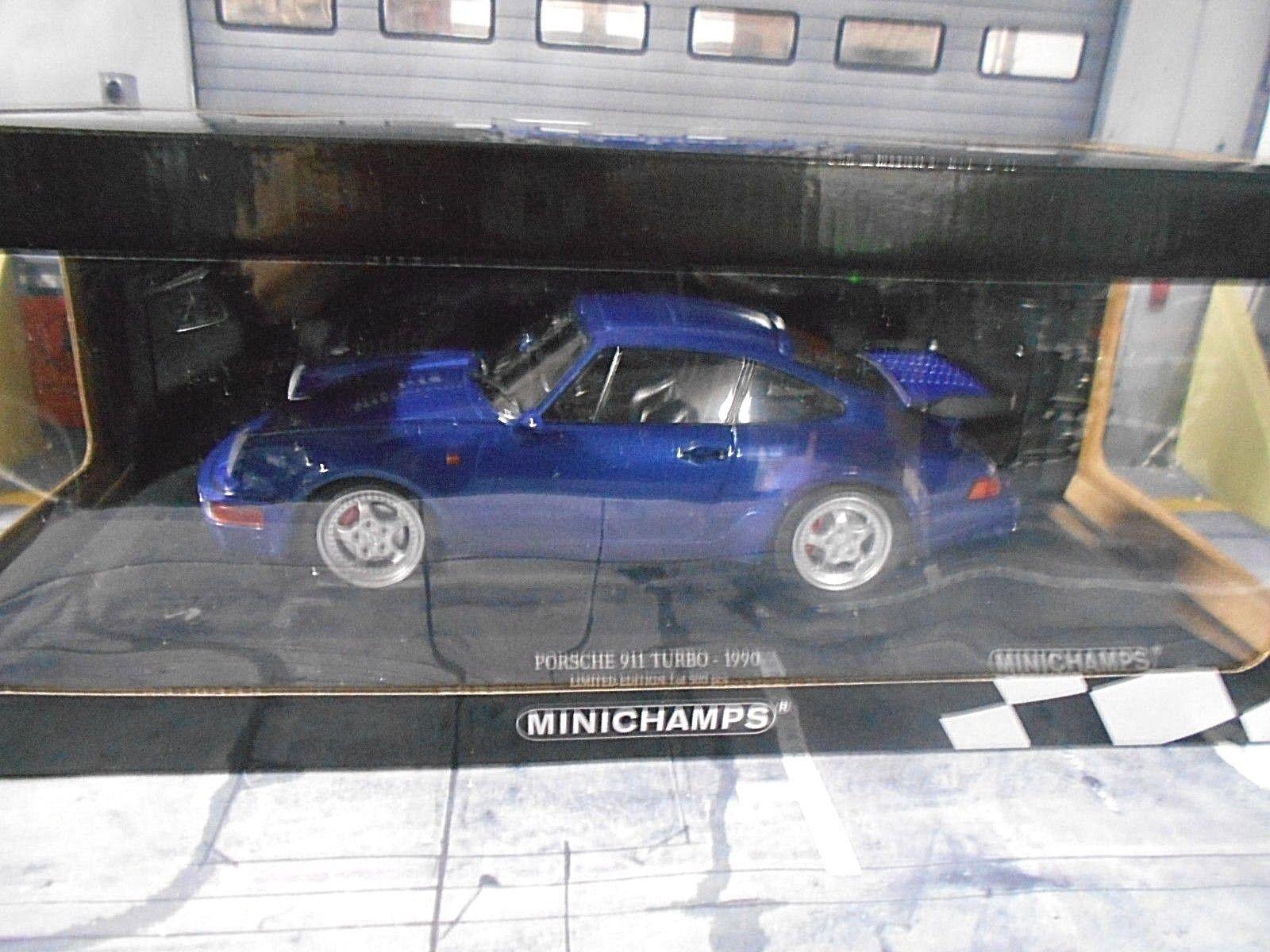 Porsche 911 964 Turbo Turbo Turbo Coupe 1990 azul azul New nuevo Minichamps DIECAST 1 18 d3e702