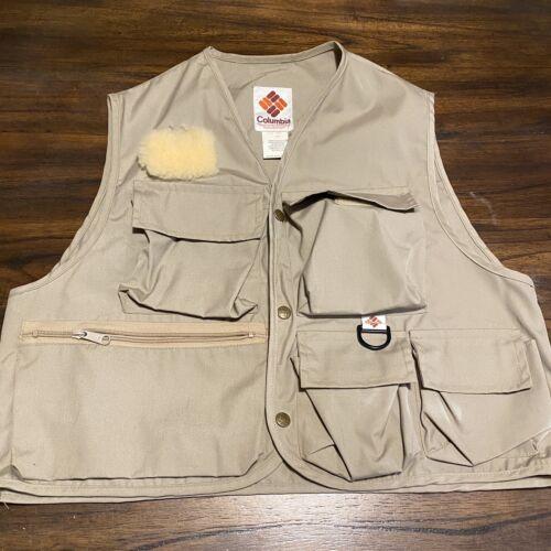 Vintage Columbia Fly Fishing Vest excellent état
