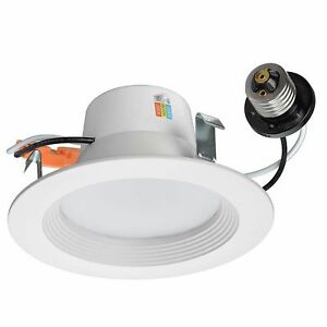 Commercial Electric 4 White Recessed Led Color Changing Cct
