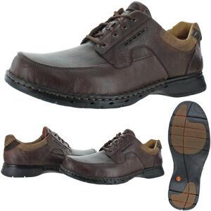 Unstructured-Par-Homme-Clarks-Un-Pliage-En-Cuir-Rembourre-Decontracte-Chaussures-Oxford