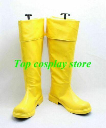 Details about  /Captain Marvel Shazam William Joseph Billy Batson Cosplay Boots shoes shoe boot