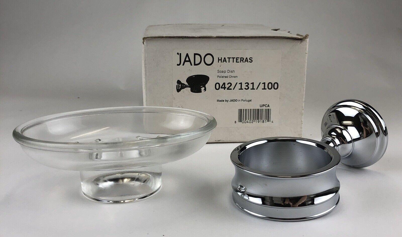 ~NIB~ JADO Soap Dish W/Holder - Hatteras Series - Polished Chrome - 042/131/100