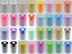100-YARDS-OF-6-WIDE-Packed-on-a-roll-TULLE-TUTU-WEDDING-FABRIC-NETTING
