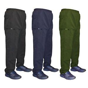 Para-Hombre-Polar-Forrado-Termico-Cargo-Elastico-Pantalones-Pantalones-Pantalones-De-Trabajo-S-3XL
