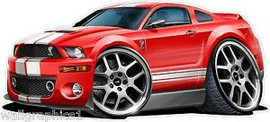 2006-10 Ford Mustang Shelby GT500 Wall Decal Garage Graphic Kids Room Stickers
