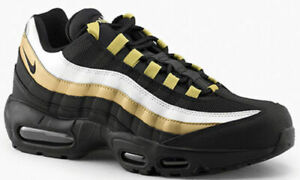 3fee631e49 NIB NIKE AIR MAX 95 OG BLACK METALLIC GOLD SIZE MEN'S / BOYS 5.5 ...