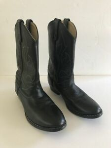 42f222dba8a Details about Masterson Boot CO Black Leather Cowboy Western Boots Youth  Size 3.5D RB2001C