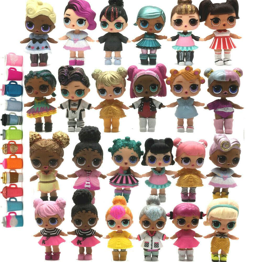 7 PCS LOL Surprise Dolls Lot Random big sister Random Dress Shoes Bottle toy