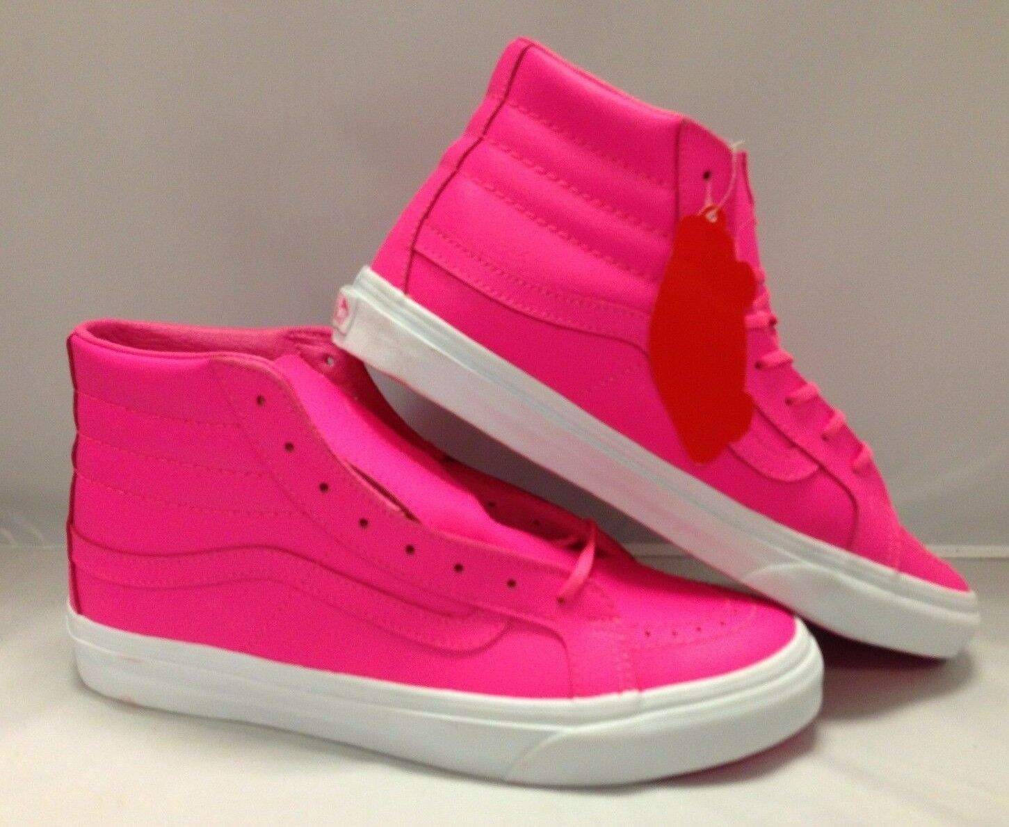 Vans Men's shoes ''Sk8'Hi Slim'' (Neon Leather) neon Pink