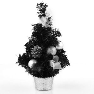 image is loading mini artificial table top black christmas tree desk