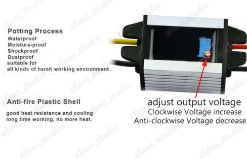 Waterproof DC-DC Converter Step Down Voltage Regulator Module 3.3v 5v 9v 12v