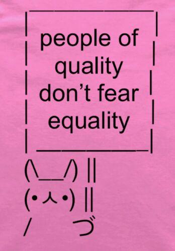 Feminist People of Quality Sign Bunny ASCII Art Feminism Ladies T-Shirt