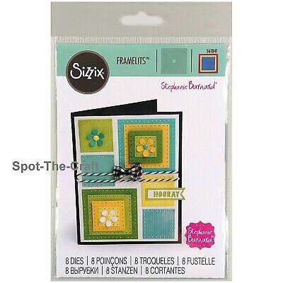 Scallop Drp-ins Stephanie Barnard 663124 Card Sizzix Framelits Die Set 10PK
