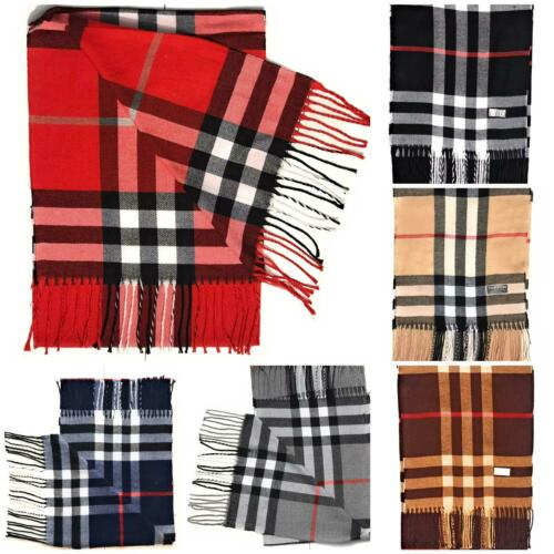 Tartan Scarf Checked Large Warm Plaid Scarf Shawl Wrap Stole Stripe Men Ladies