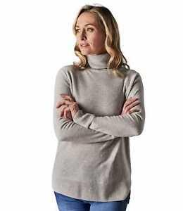 détaillant en ligne 93d84 cd862 Détails sur WoolOvers Pull Top Haut Décontracté Chaud Épais Col Roulé Femme  Cachemire