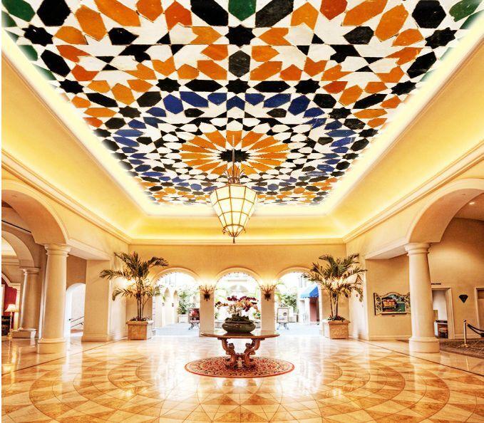 3D Flowery Spot Ceiling WallPaper Murals Wall Print Decal Deco AJ WALLPAPER GB