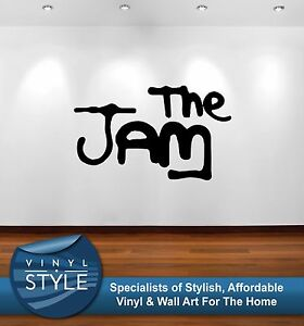 THE-JAM-Logo-Musica-WELLER-Pegatina-Decoracion-De-Pared-Grafico-VARIOS-COLORES