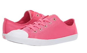Details about CONVERSE Womens Strawberry Red HOT pink CTAS DAINTY OX Chuck Taylor All Star sz6