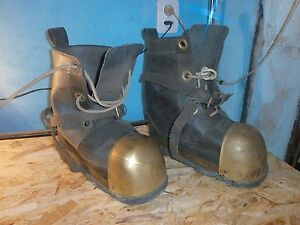 Navy-Diver-039-s-Boots-shoes-pair-Soviet-USSR
