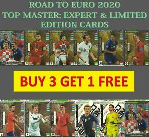 PANINI-ADRENALYN-ROAD-TO-EURO-2020-LIMITED-EDITION-TOP-MASTER-EXPERT-amp-RARE-CARD
