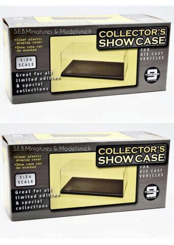 Lote 2 Cajas Vitrina Show Case Pedestal para Miniaturas 1//24 Nuevo Original