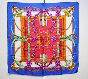 Hermes Hermès Grand Manege Scarf Silk Twill Foulard Sciarpa Care Tag ... cb4c4944d9a