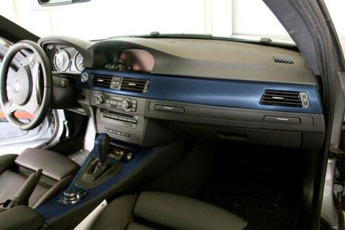"""VVIVID8 Navy blue carbon fiber vinyl DIY 3d car wrap film decal 60/"""" x 60/"""""""