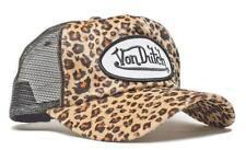 Authentic Brand New Von Dutch Cheetah Print Cap Hat Mesh Truckers Snapback Rare