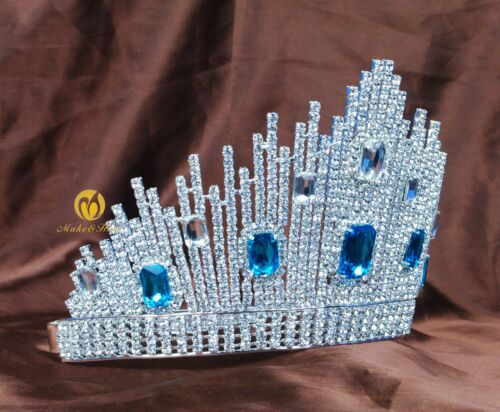 Beauty Pageant Crown Austrian Rhinestone Tiara Diadem Wedding Bridal Prom Party