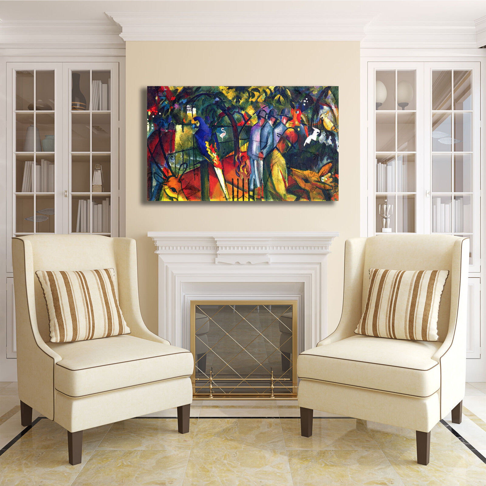 Macke giardino zoologico design arRouge quadro stampa tela dipinto telaio arRouge design o casa 8d194a