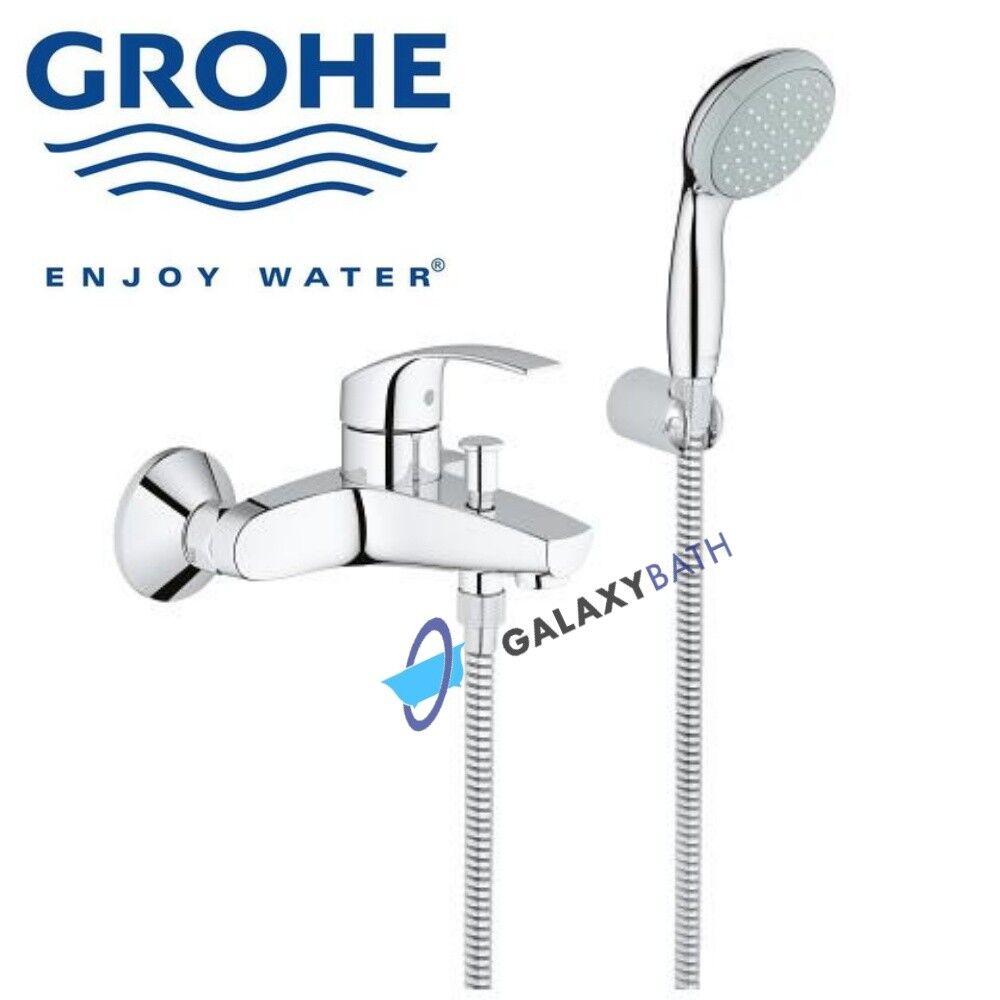 GROHE Eurosmart Bain Mitigeur Avec Douche Set de douche à main Tuyau & Support mural pour