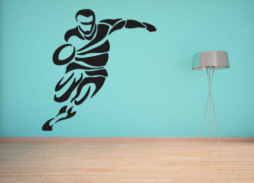 LARGE RUGBY PLAYER BEDROOM WALL ART MURAL TRANSFER STICKER VINYL DECAL