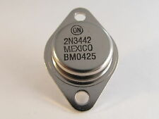 2 Stück - 2N3442 - NPN TO3 10A 140V 117W - ONS High Power Transistor (AE23/5094)